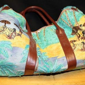 Christiana Hand Beaded Duffel Bag